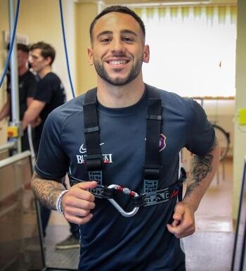 Fußballprofi Calogero Rizzuto studiert neben dem Fußball Sportmanagement.