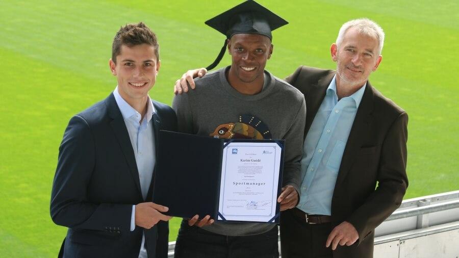 Karim Guédé hat es geschafft, er ist Sportmanager