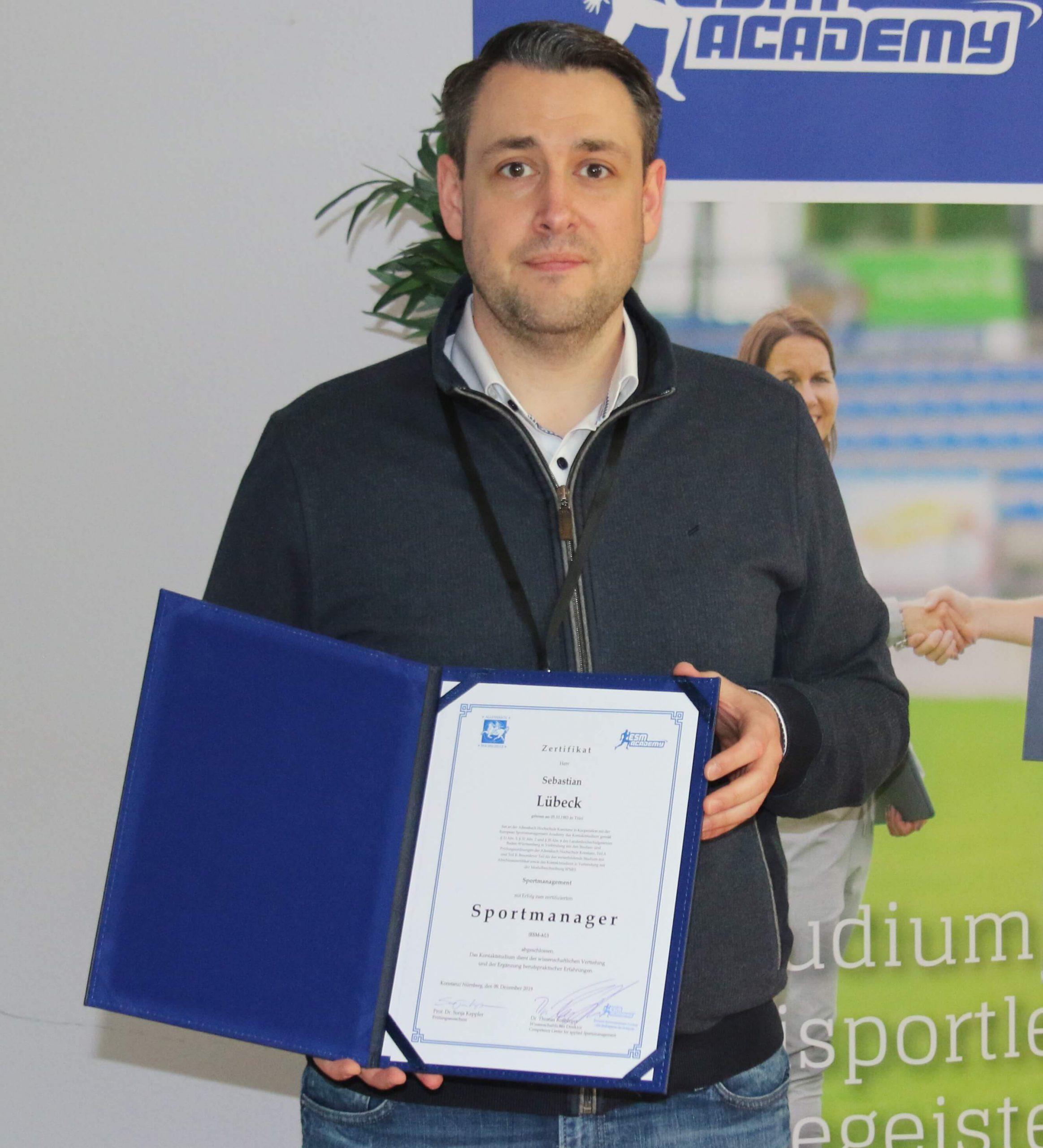 Sebastian Lübeck von den White Wings Hanau ist Sportmanager.