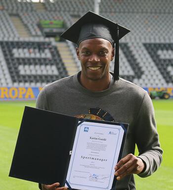 Karim Guédé hat sein Sportmanagement Studium erfolgreich beendet.